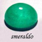 smeraldo a cabochon